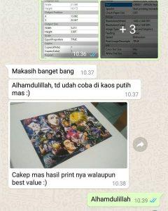 Chat Pelanggan Printer DTG 2