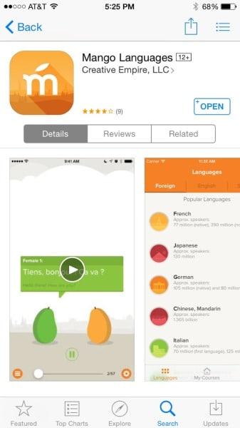 Aplikasi Belajar Bahasa Inggris Mango Languages